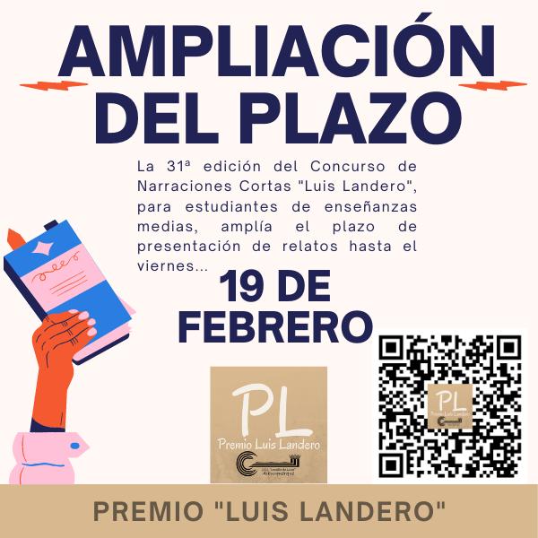 Ampliación del plazo Premio Landero