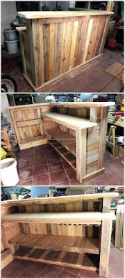 paso a paso construccion barra de bar con palets de madera
