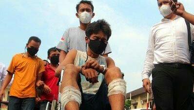 Begal Sadis Kota Medan Ditangkap Bersama 6 Penadah, Kedua Kaki Ditembak, Pernah Bunuh Abang Kandung