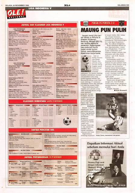 LIGA INDONESIA V PERSIB BANDUNG VS PERSITA TANGERANG 2-0