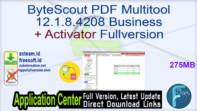 ByteScout PDF Multitool 12.1.8.4208 Business + Activator Fullversion