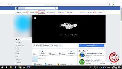 1. Langkah pertama untuk mengetahui kelayakan Fanspage Facebook kalian perlu mengakses halaman kalian terlebih dahulu, lalu pilih menu Insight