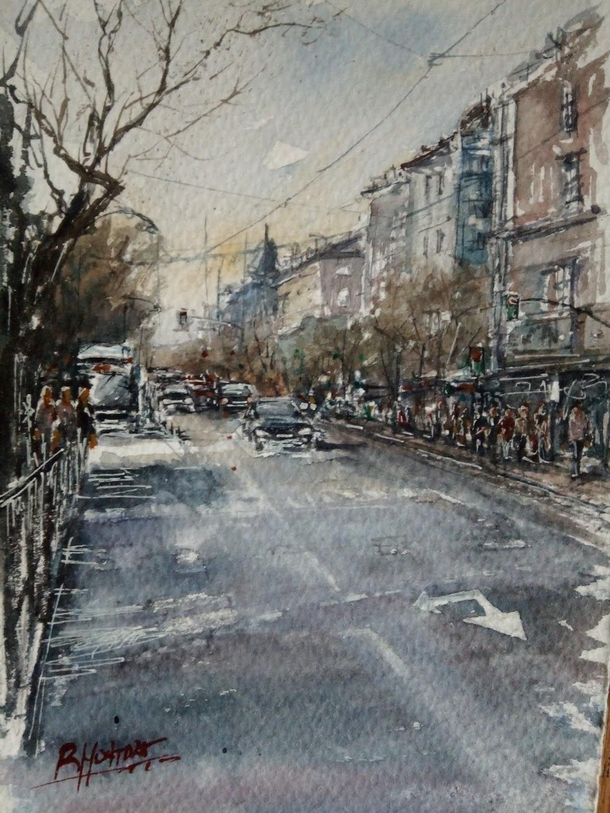 ACUARELAS : Paisajes urbanos de Madrid
