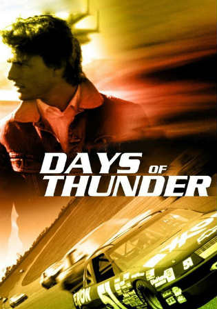 Poster of Days Of Thunder (1990) BRRip 720p Dual Audio 700Mb