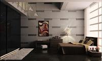 Dormitorio en colores tierra