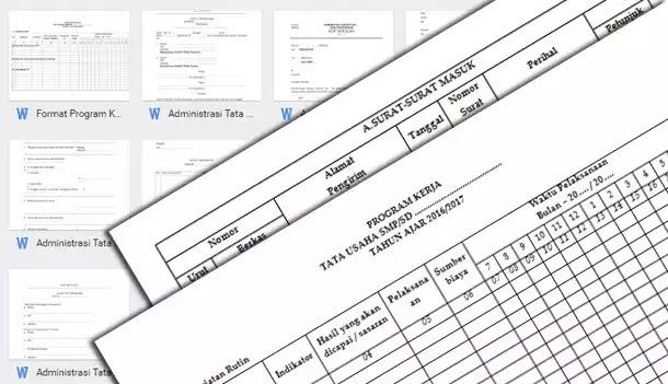 Format Program Kerja dan Administrasi TU (Tata Usaha) Lengkap