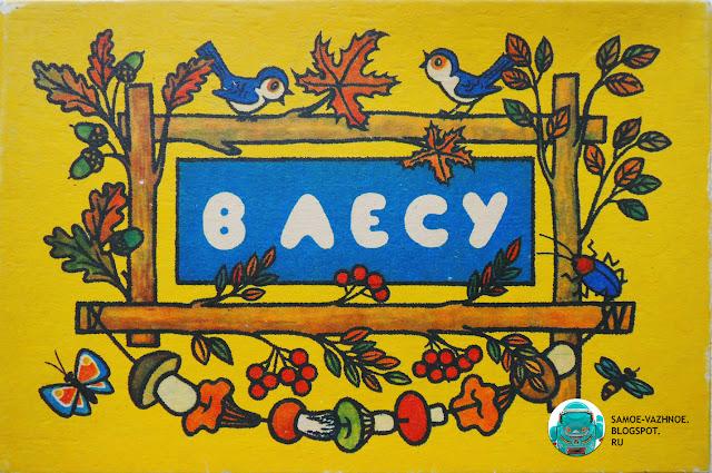 Игры СССР. В лесу игра СССР 1986 год. Игра В лесу СССР Жёлтая коробка птицы, птички, грибы на нитке, рябина, обложка, крышка.