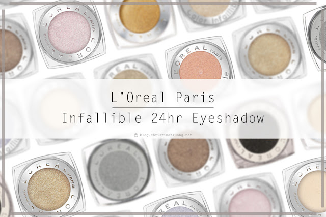 L'Oreal Infallible 24hr Eye Shadow in 888 Iced Latte and 892 Amber Rush Review and Swatch