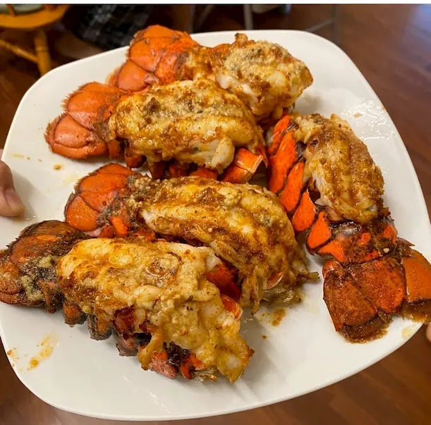 Buttery Garlicy Cajun Lobster Tail