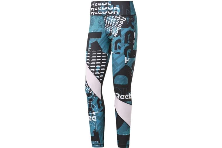 Pantaloni de fitness Reebok Meet You There pentru femei cu imprimeu