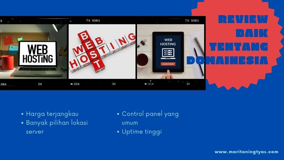 Review baik tentang Web Hosting Domainesia