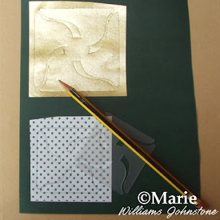 Trace around the template onto the paper