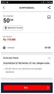 50GB 170ribu #SurpriseDeal Telkomsel