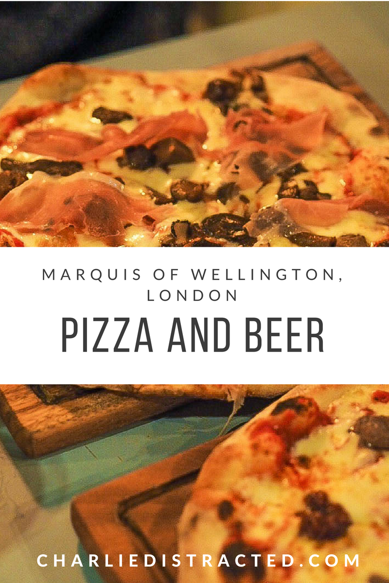 Pizza and beer in Bermondsey, London