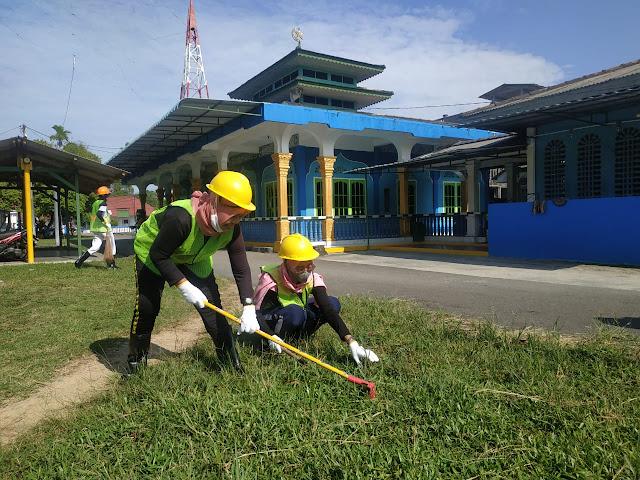 Kantor PLP Kelas II Tanjung Uban Gelar Kegiatan Padat Karya Tahap II
