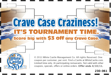 white castle crave case coupons