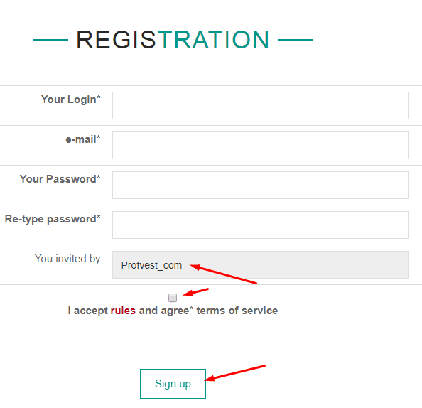 Регистрация в GsOil 2