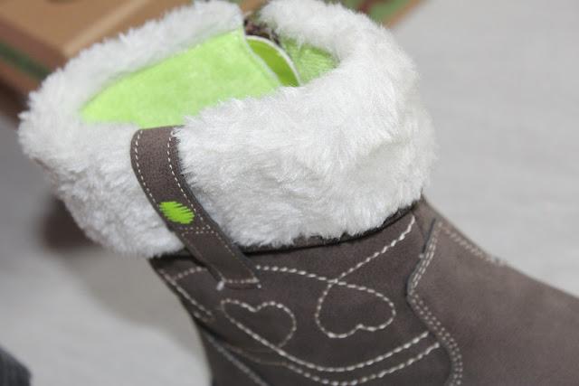bottines chaudes pour fille