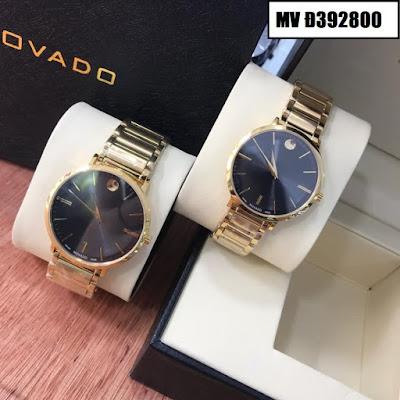 Đồng hồ cặp đôi màu vàng Movado MV Đ392800