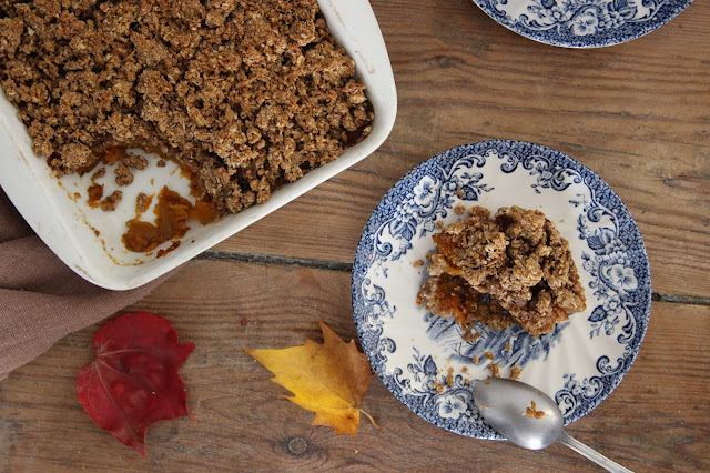 Cuillère et saladier : Pumpkin pie crumble (vegan)