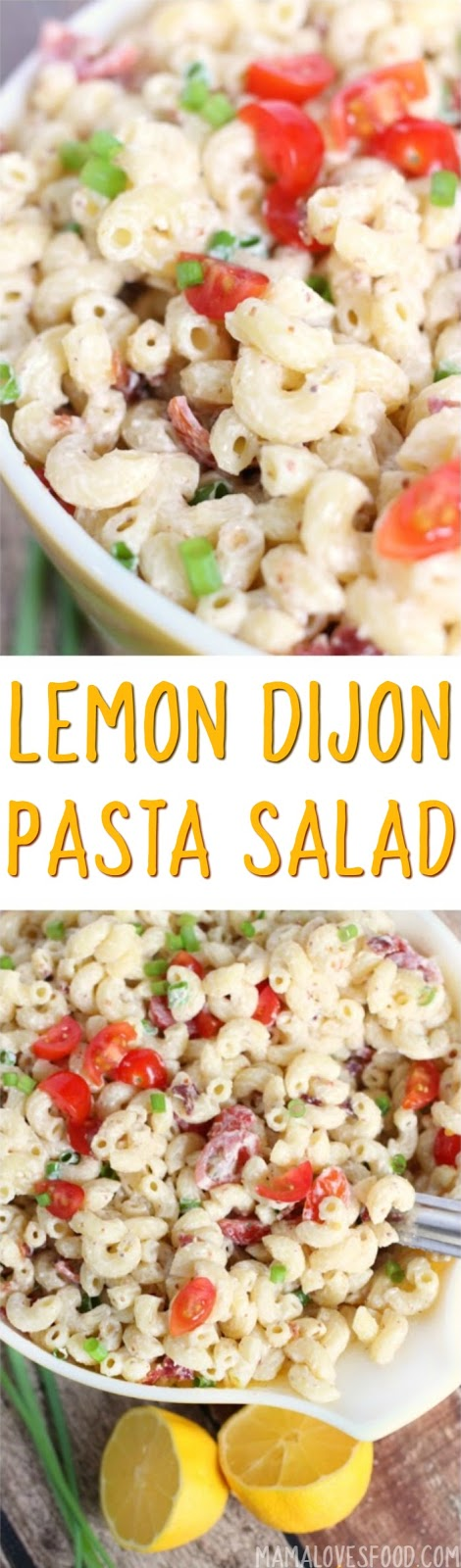 Macaroni Salad with Bacon Tomatoes Dijon and Lemon