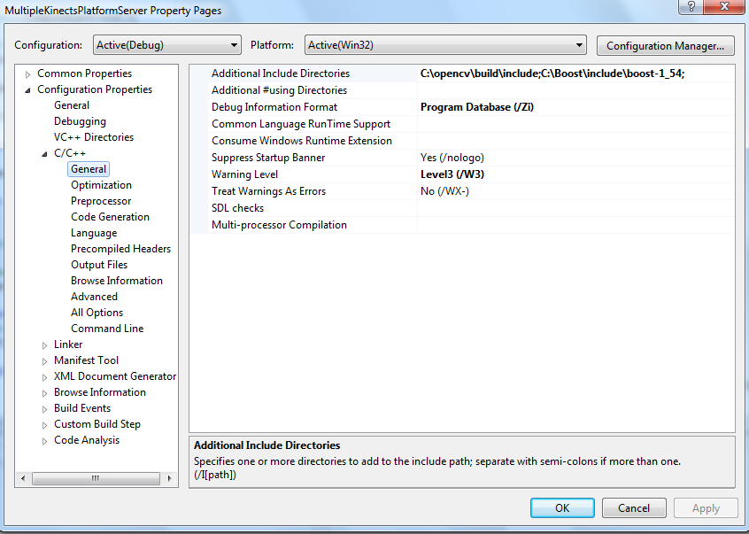 Installing opencv 2 48 on Win 7 and VS2012