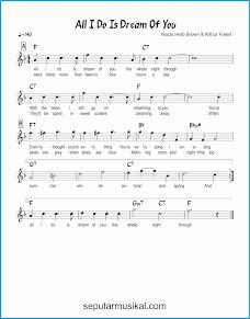chord all i do is dream of you lagu jazz standar