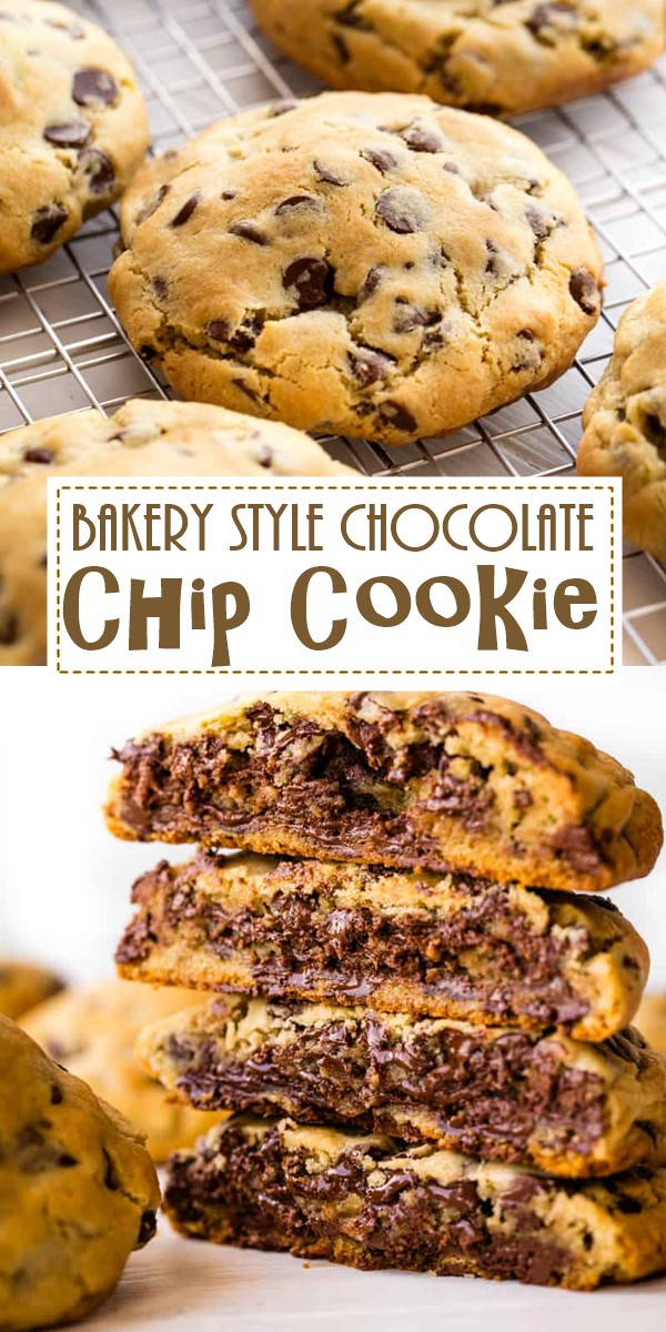 The Ultimate Bakery Style Chocolate Chip Cookie #cookiesrecipes