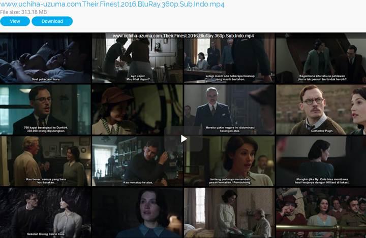 Screenshots Download Film Gratis Their Finest (2016) BluRay 360p Subtitle Indonesia 3gp
