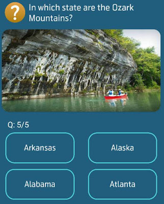 In which state are the Ozark Mountains?