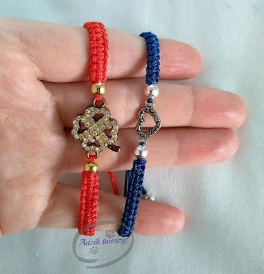 Adzik tworzy - bransoletki DIY ze sznurków z łącznikiem
