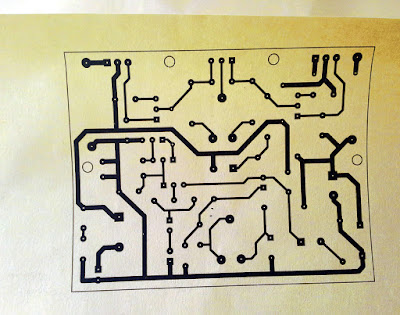 PCB design printed on special paper