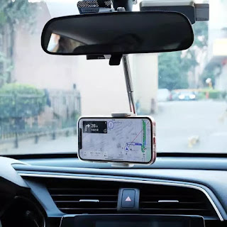 Phone Holder Mobil Universal Rearview Car Stent Mount Single Pole HP