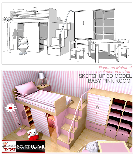 free sketchup model baby room