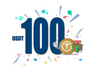 INOEX 100 USDT Crypto No Deposit Bonus