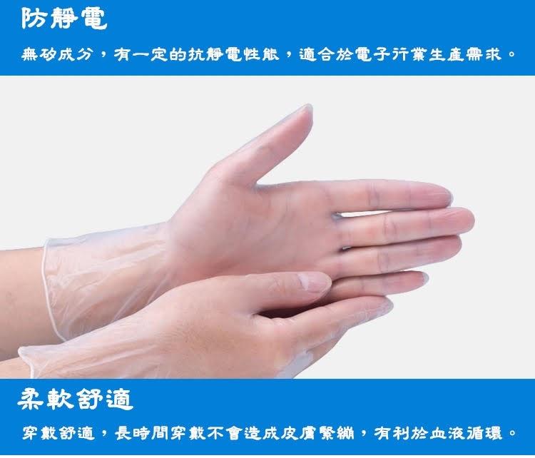 一次性無粉PVC手套