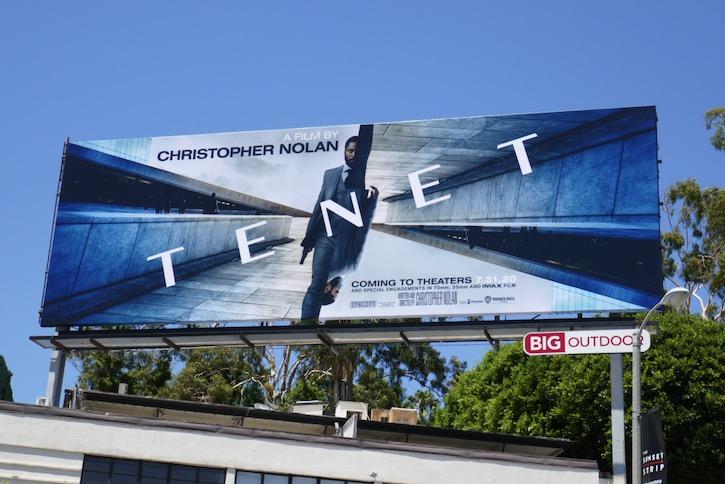 Tenet film billboard