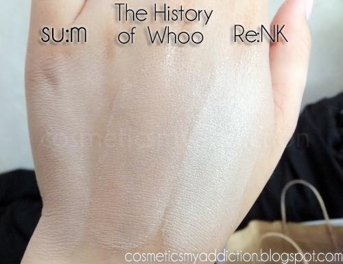 Porównanie CC kremów: Bell, Re:NK, The History of Whoo, Su:m, Etude House BB