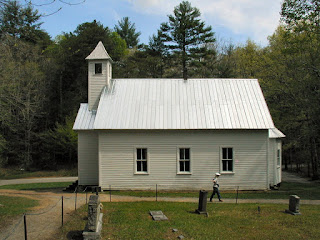 The Missionary Baptist Church has both a narthex (the entry-room under the bell-tower), and a alcove on the other end.