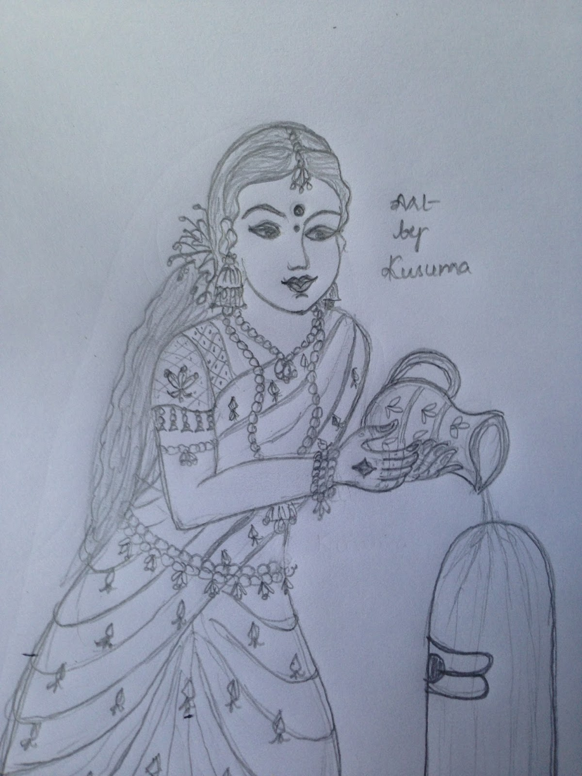 Pencil sketches lord shiva