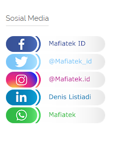 Cara Menambahkan Icon Widget Sosial Media Di Blogger