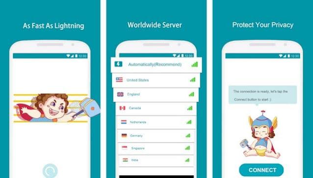 أفضل تطبيق VPN للأندرويد Thunder VPN