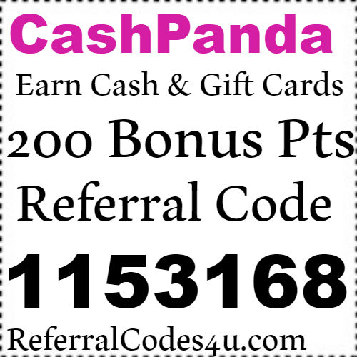 CashPanda App Referral Code, Sign Up Bonus, Reviews and Download 2018-2019