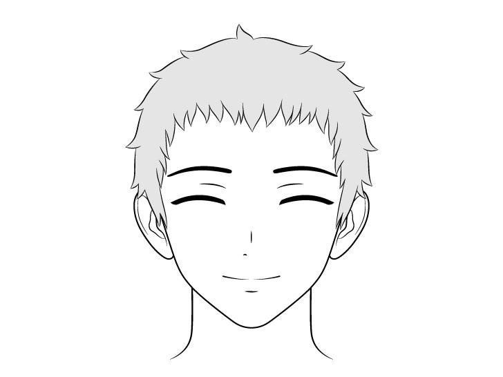 Gambar wajah konten pria ramah anime