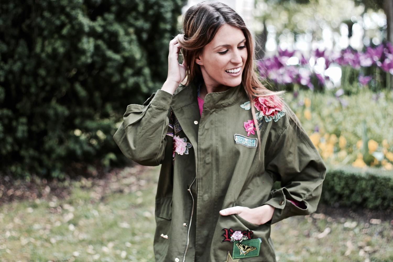 chaqueta bordado floral