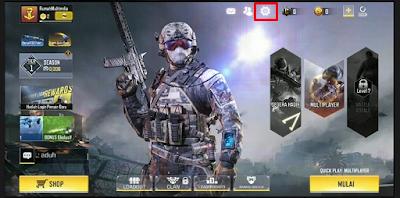 Cara masuk menu setting COD Mobile