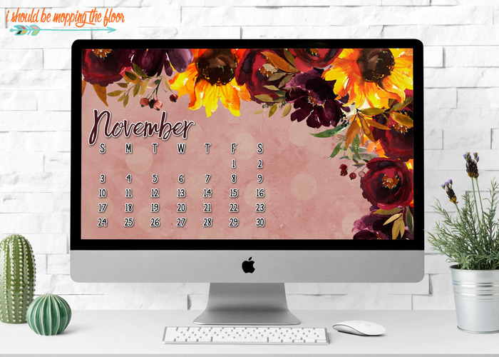 Fall Desktop Calendar