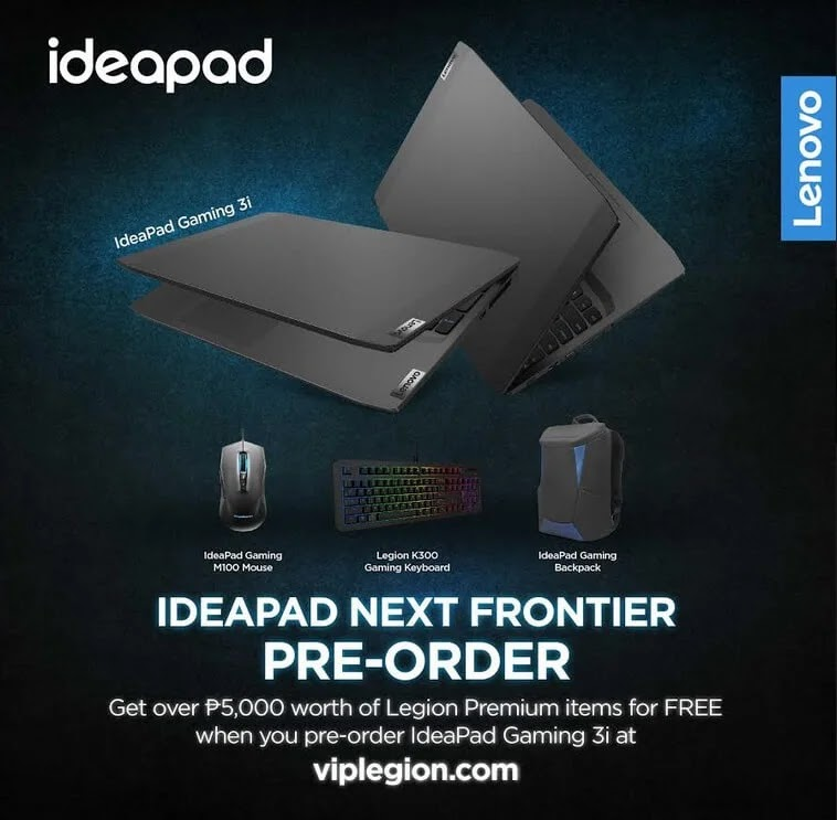Lenovo Ideapad Gaming 3i Now Up For Pre-order with Php5.8K Worth of Freebies; Yours Starting at Php46,995