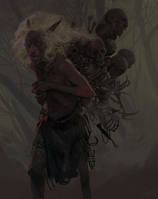 Hassan Tabrizi artstation arte ilustrações fantasia ficção terror sombrio