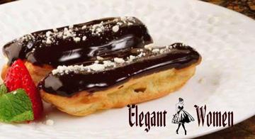 اكلير بالكاسترد وصوص الشيكولاتة  | أسهل طريقة لعمل الاكلير  |  طريقة عمل إكلير الشوكولاتة بحشو الكاسترد  | أسهل طريقة لعمل الاكلير زى المحلات